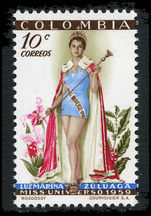 Colombia 1959 Miss Universe 10c unmounted mint.