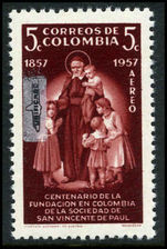 Colombia 1959 5c St Vincent Unificado overprint unmounted mint.