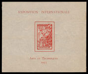Madagascar 1937 International Exhibition souvenir sheet unmounted mint.