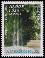 Mayotte 1999 Soulou Waterfall unmounted mint.