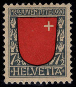 Switzerland 1920 Pro-Juventute 7½c lightly mounted mint.