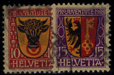 Switzerland 1918  Pro-Juventute set fine used.