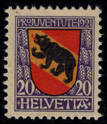 Switzerland 1921 Pro-Juventute 20c lightly mounted mint.