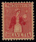 Switzerland 1917 Pro-Juventute 10c lightly mounted mint.
