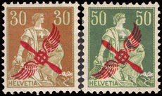 Switzerland 1919-2 Airs fine lightly mounted mint (both signed twice).