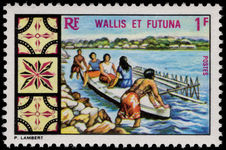 Wallis and Futuna 1969 Outrigger Canoe unmounted mint.