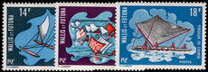 Wallis and Futuna 1972 Sailing Pirogues postage set unmounted mint.