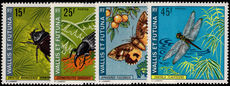 Wallis and Futuna 1974 Insects unmounted mint.