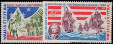 Wallis and Futuna 1976 American Revolution unmounted mint.