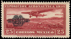 Mexico 1932 20c on 25c lake provisional unmounted mint.