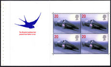 1998 20p Land speed record booklet pane unmouned mint.