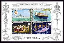 Anguilla 1977 Silver Jubilee souvenir sheet unmounted mint.