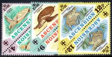 Ascension 1973 Turtles in tete-beche pairs unmounted mint.