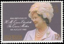 Ascension 1980 Queen Mother unmounted mint.