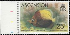 Ascension 1980 Fish 25p crown to right of CA unmounted mint.