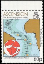 Ascension 1980 Royal Geographical Society 60p crown to left of CA unmounted mint.