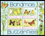 Bahamas 1975 Butterflies souvenir sheet unmounted mint.
