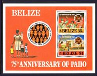 Belize 1977 PAHO souvenir sheet unmounted mint.