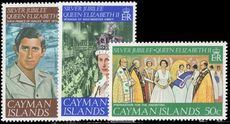 Cayman Islands 1977 Silver Jubilee unmounted mint.