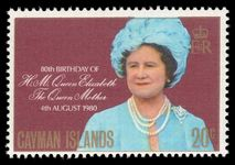 Cayman Islands 1980 Queen Mother unmounted mint.