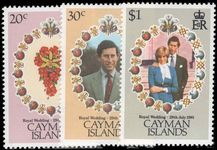 Cayman Islands 1981 Royal Wedding unmounted mint.