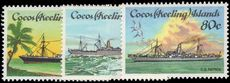 Cocos (Keeling) Islands 1985 Cable-laying ships unmounted mint.