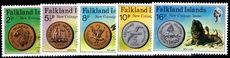 Falkland Islands 1975 New Coinage unmounted mint.
