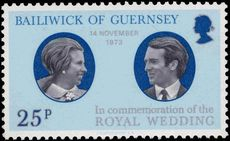 Guernsey 1973 Royal Wedding unmounted mint.
