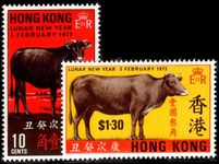 Hong Kong 1973 Chinese New Year unmounted mint.