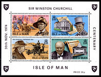 Isle of Man 1974 Churchill souvenir sheet unmounted mint.