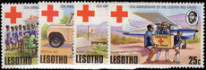 Lesotho 1976 Red Cross unmounted mint.
