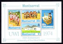 Montserrat 1974 University souvenir sheet unmounted mint.