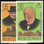 Montserrat 1974 Churchill unmounted mint.