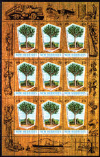 New Hebrides 1969 Timber Industry sheetlet mounted mint.