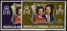 French New Hebrides 1972 Royal Silver Wedding unmounted mint.