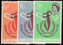 Ascension 1968 Human Rights Year unmounted mint.
