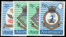 Ascension 1971 Royal Navy Crests (3rd series) unmounted mint.