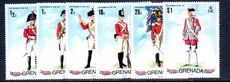 Grenada 1971 Military Uniforms unmounted mint.