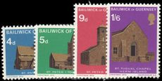Guernsey 1970 Christmas churches unmounted mint.