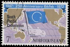 Norfolk Island 1972 25th Anniv of South Pacific Commission fine used.