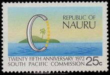 Nauru 1972 25th Anniv of South Pacific Commission unmounted mint.