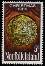 Norfolk Island 1969 Christmas unmounted mint.