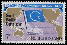 Norfolk Island 1972 South Pacific Commission unmounted mint.
