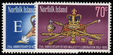 Norfolk Island 1978 Coronation Anniversary unmounted mint.
