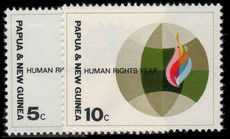 Papua New Guinea 1968 Human Rights Year unmounted mint.