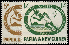 Papua New Guinea 1963 First South Pacific Games Suva unmounted mint.