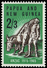 Papua New Guinea 1965 50th Anniv of Gallipoli Landing unmounted mint.