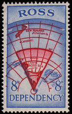 Ross Dependency 1957 8d bright carmine and blue unmounted mint.