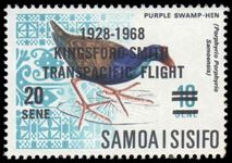 Samoa 1968 40th Anniv of Kingsford Smith's Trans-Pacific Flight unmounted mint.