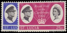 St Lucia 1966 Royal Visit unmounted mint.